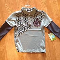Axel & Hudson Boys Trendy Gray Size 5 Long Sleeve Shirt Photo