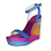 Azalea Wang Parker Multicolor Sandals Wedge Platform Womens Size 6.5 Photo