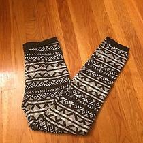 Aztec Print Leggings Thick Warm Cozy Comfy Blush and Bloom Xl Gray Winter Photo