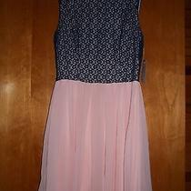 B. Darlin Brand Size 5 / 6 Navy Blush Party Dress New With Tags Photo