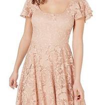 B. Darlin Junior's Dress Blush Pink Size 0 a-Line Lace Illusion 69 136 Photo