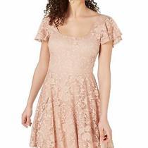 B. Darlin Junior's Dress Blush Pink Size 9 Junior a-Line Lace Illusion 69 063 Photo