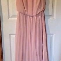 B. Darlin Juniors Pleated Maxi Dress Size 5/6 Blush Pink Bridesmaid Prom Formal Photo