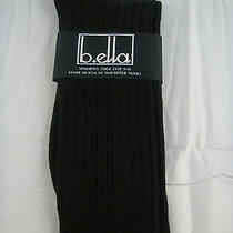 B.ella Socks Ladies Black Silky 55% Tencel 45% Nylon Size 9-11 Bebe Usa Made Photo
