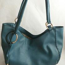 B. Lush Purse Boho Handback Teal Faux Leather Blush Super Soft Tote Blue Green Photo