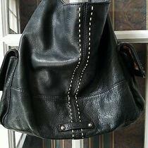 B Makowsky Black  Soft Leather Shoulder Bag  Hobo Bag Photo