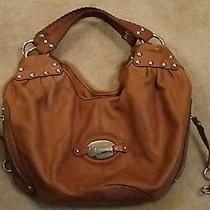 B.makowsky Cognac Color Leather Hobo Style Handbag Photo