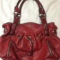 B Makowsky Double Handle Lisbon Shopper Hobo Tote - Garnet Red - Guc/vguc  Photo