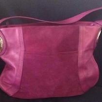 B.makowsky Giamma Leather & Suede Hobo Bag With Hinge Hardware Mulberry Photo