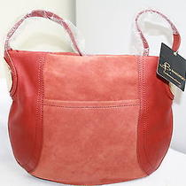 B.makowsky Ginger Giamma Leather & Suede Hobo Bag With Hinge Hardware  Photo