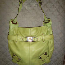 B. Makowsky Glove Leather Belted Hobo Bag Nwt in Pistachio Hb007 Photo