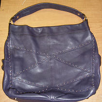 B. Makowsky Glove Leather Slouchy Hobo Blackberry A210956 Stud Photo