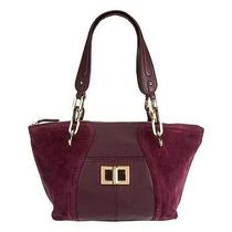 B. Makowsky Layla Suede and Leather Satchel W/ Tortoise Strap Mulberry Purse Photo