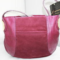 B.makowsky Mulberry Giamma Leather & Suede Hobo Bag With Hinge Hardware  Photo