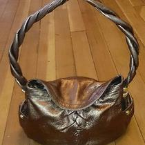 B. Makowsky Ruched Glove Leather Flap Hobo With Braided Strap in Copper Photo