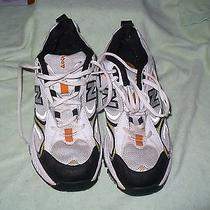 B New Balance 504 Abzorb Silver and Black Athletic Mens 7 M Photo
