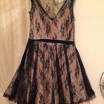 B. Smart Dress Formal Blush With Black Lace Overlay Size 9 Original Price 100 Photo