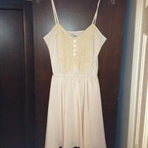 B Vintage for Piperlime Ivory Cream Off White Blush Lined Dress Sz S Photo