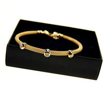 B179 Avon Goldton Simple Bracelet New With Original Box  Photo