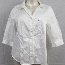 B2- Lane Bryant Button Down Shirt Size- 26 Blouse Color- Soft White Top Nwt's Photo