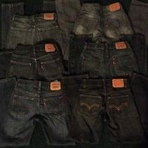 B2s Lot of 6 Boys Levi's Jeans Size 12 Regular (26x26) Euc Photo