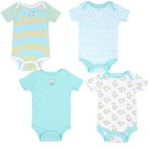 Babies R Us Boys 4 Pack Bodysuit - Aqua Newborn Photo