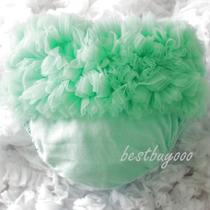 Baby Aqua Blue Ruffles Panties Bloomers for Pettiskirt Photo