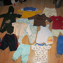 Baby Boy 0-3 Month Lot Adidas Long Sleeve Care Bears Pooh Okie Dokie Tees Fish Photo