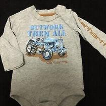 Baby Boy 12 Mo Carhartt One Piece Shirt Gray in Great Condition Photo
