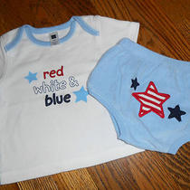 Baby Boy 6/12mo Baby Gap 4th of July Summer Outfit Set Ss Topdiaper Covercute Photo