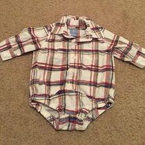 Baby Boy Baby Gap Plaid Bodysuit 0-3 Months  Photo