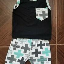 Baby Boy Boutique Summer Clothes Outfit Shorts Set Cross Size 6 9 Months Cute Photo
