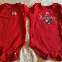 Baby Boy Carter's Red Onesies  - 3 Months Photo