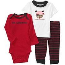 Baby Boy Carters Child of Mine 3pc Pajama Set Bnwt Sz 3-6mo