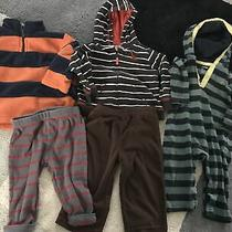 Baby Boy Clothes Romper Jacket Pants 6 9 Mo Euc Photo