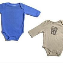Baby Boy Gap and Luvable Friends Blue and Light Brown One Piece 0 to 3 Months Photo