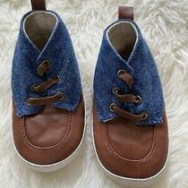 Baby Boy Gap Shoes Size 12-18 Month Nwot Denim Sneakers Slip on  Photo