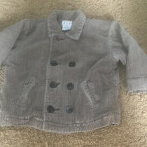 Baby Boy Gap Sz 12-24 Months Khaki Beige Jacket Coat Double Breasted Corduroy Photo