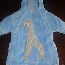 Baby Boy Snowsuit Bag With the Slit for the Car Seat Buckle 0-9 Months. Bon Bebe Photo