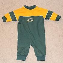 Baby Boys 6-9 Months Reebok Greenbay Packers Green & Yellow One-Piece  Photo