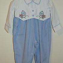 Baby Boys Boutique Will'beth Embroidered Christmas Romper Size 9m Nwot  Photo