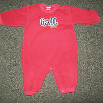 Baby Boys Size 9 Months Carter's Maroon Soccer Fleece Outfit  Photo