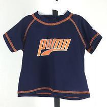 Baby Boys Top Shirt Great Sport Shirt W Orange Stitching Puma 3-6 Months Blue Photo