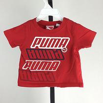 Baby Boys Top Shirt Great Summer Puma Tee Shirt Puma 12 Months Red Photo