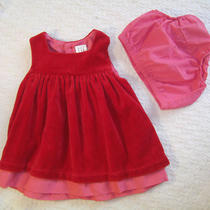 Baby Clothes Baby Gap Red Velour Infant Dress W/ Diaper Cover Newborn  Photo