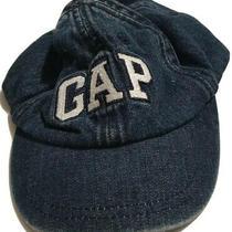 Baby Denim Hat Gap Hat Blue Jean Denim Cap Stretch 6-12 Months Unisex Big Logo Photo