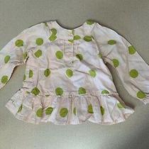Baby Gap 12-18 Girl Months Pink and Green Polka Dots-Long Sleeved Photo