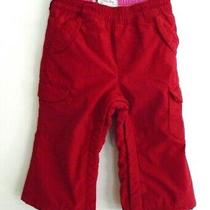 Baby Gap 12-18m Fleece Lined Red Pants Cargo Pockets Photo