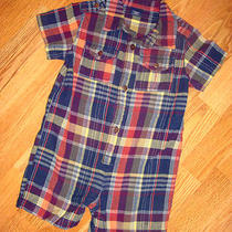 Baby Gap 18 24 M Madras Plaid Romper Outfit  Photo