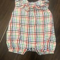 Baby Gap 18-24 Month Red Green Pink Blue Plaid Romper Photo